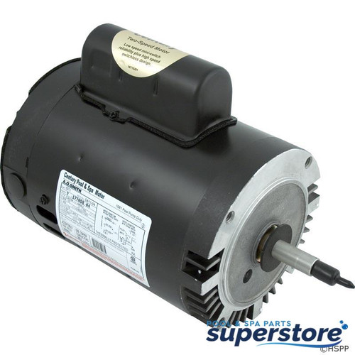 663001194941 A.O. Smith Electrical Products Motor, Cent, 0.75hp, 115v, 2-spd, SF 1.50, 56J fr,C-Face Thd B973 AOSB973 38504