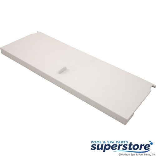 806105100412 Waterway Plastics Skimmer Weir, Waterway 100/200sqft, Dual Port, White 550-6600