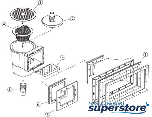 what size is the vacuum skimmer plate?  513351 Pentair Pool Products Skimmer Vacuum Plate, Pentair HydroSkim