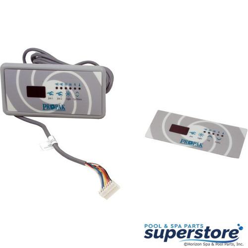 0202-007049 Gecko Alliance Topside, Gecko TSC-18/K18, 4 Button, 1 Pump, Small Rec, LED BDLTSC18GE1 3-00-7218