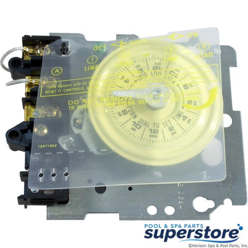 078275000230 Intermatic Timer Mechanism, Intermatic,T101,SPST,115v,24hr,Yellow Dial T101M 56725