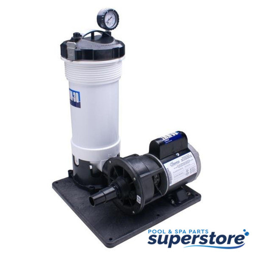 520-4070LT WATERWAY COMPLETE PUMP & CARTRIDGE FILTER, 25 SQ FT TWM, 1/8 HP, 115V, 1-SPEED, 6' NEMA CORD, NO TRAP